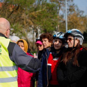 Fahrradtraining geflüchteter Frauen mit der Verkehrswacht Magdeburg