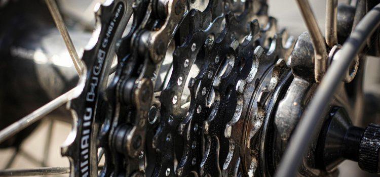 Zahnrad Fahrradkette Detailaufnahme