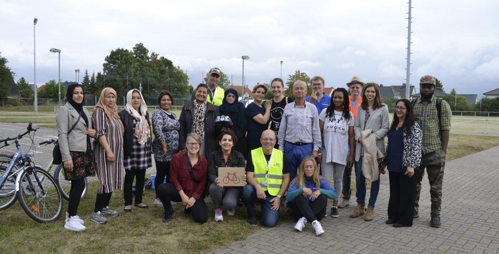 Fahrradtrainingsgruppe migrantische Frauen September 2019